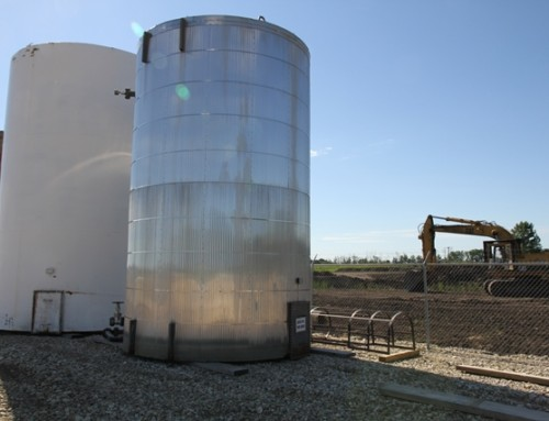 400BBL Aluminum Cladding insulated Internally Coated Storage tank