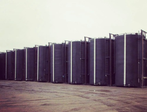 Lightly used 400 BBL Internally Coated Storage tanks C/w Steam coil