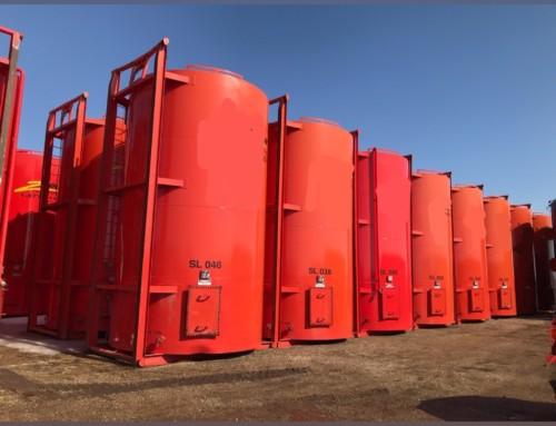 400 BBL Single Wall Sloped Bottom Internally coated Tanks