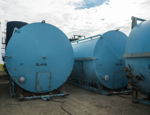 400 BBL Internally Coated Tanks – Blue