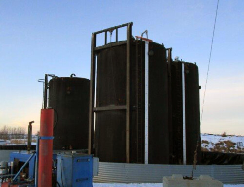 400 BBL Double Wall Coated Tanks Complete with Vault