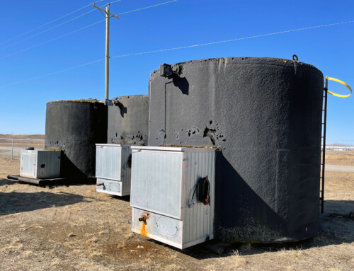 Lightly used 200 BBL Double Wall Storage Tanks
